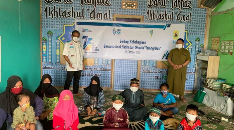 Di Tengah Pandemi,PLN Berbagi Kebahagiaan Bersama Puluhan Ribu Anak Yatim dan Dhuafa