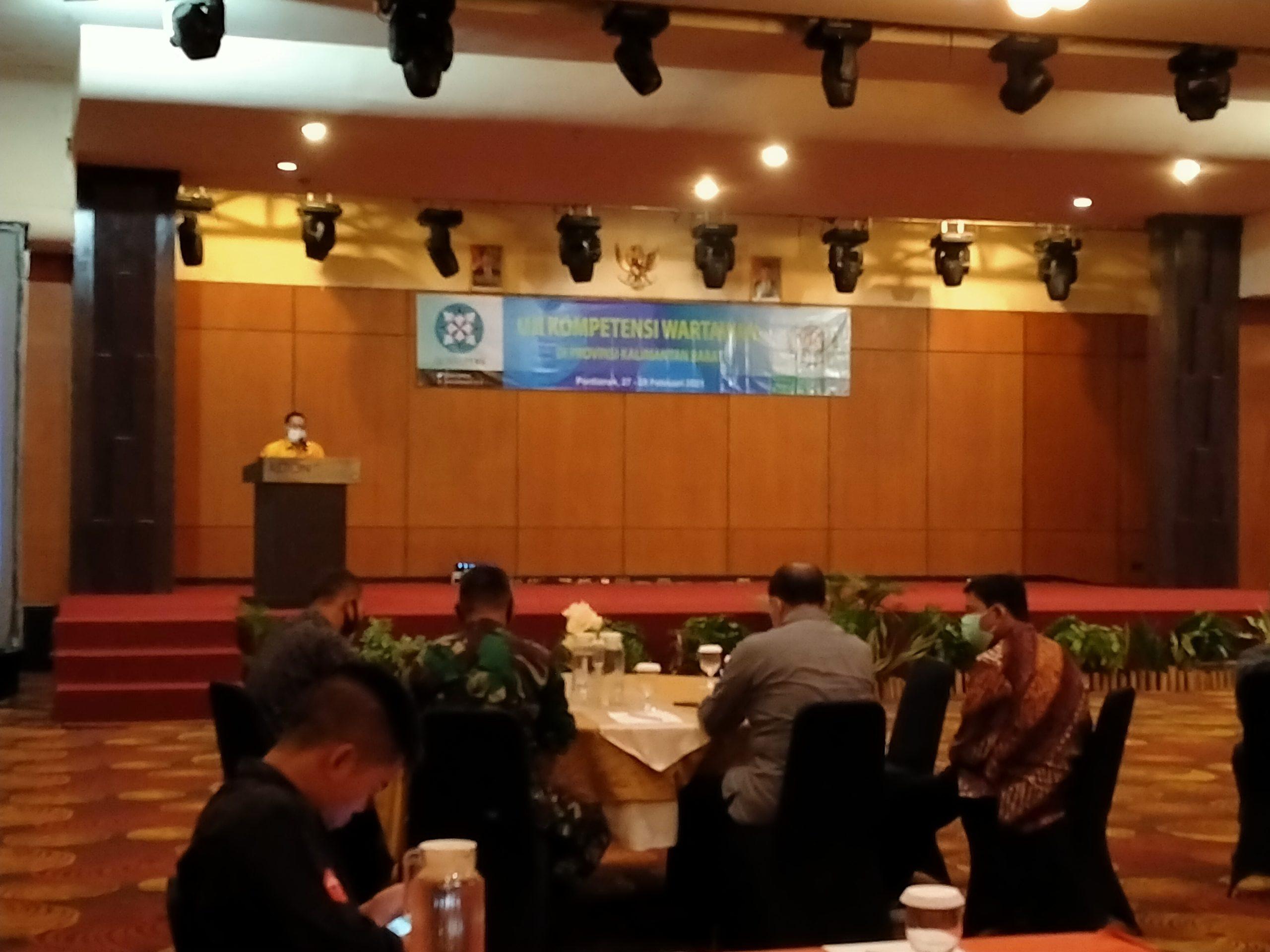 Uji Kompetensi Wartawan Kalbar Tahun 2021 Resmi Dibuka