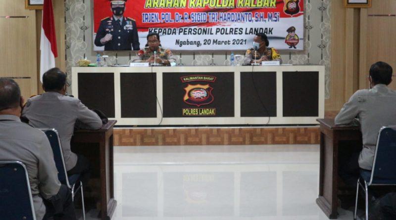 Suasana kunjungan Kapolda Kalbar ke Polres Landak