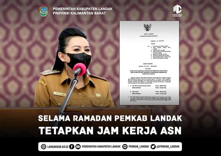 Bupati Landak Terbitkan Surat Edaran Terkait Jam Kerja ASN di Bulan Ramadhan