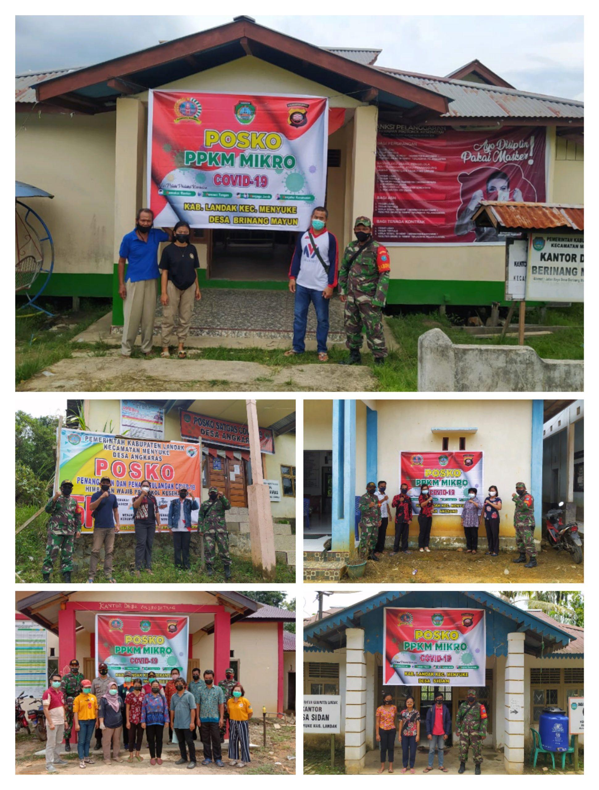 Beberapa Desa di Kecamatan Menyuke Telah Bentukan Posko PPKM Skala Mikro