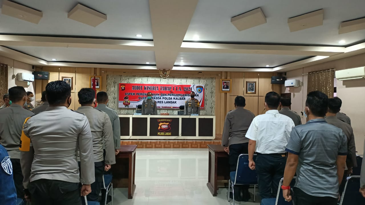 Tim Itwasda Polda Kalbar Audit Kinerja Polres Landak Tahap Satu Tahun 2021