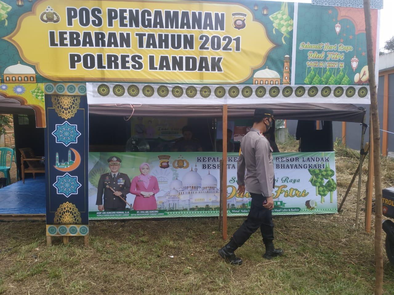 Kapolsek Sengah Temila Cek Kesiapan Pos Pengamanan Ops Ketupat Kapuas 2021