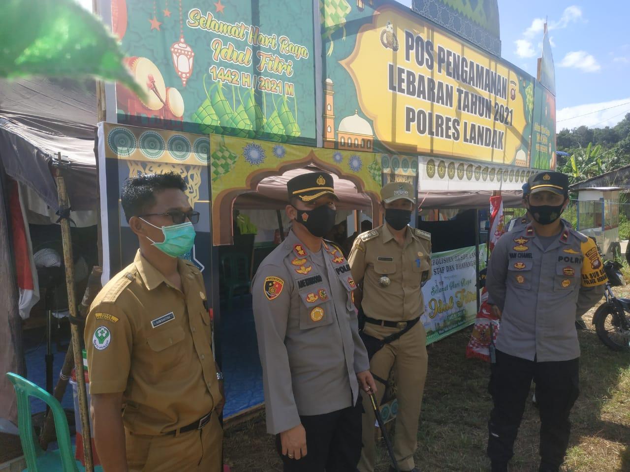 Kapolres Landak Cek Kesiapan Pos Ops Ketupat Kapuas 2021 Sengah Temila