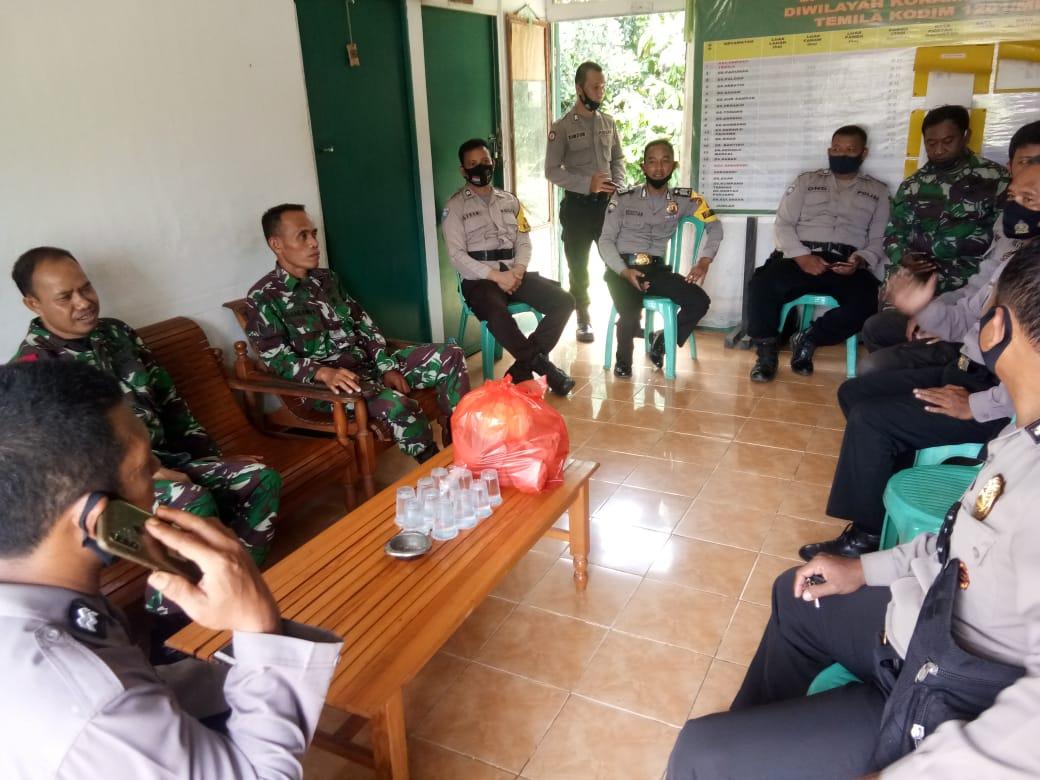 Sinergi TNI-Polri, Koramil dan Polsek Sengah Temila Gelar Makan Bersama