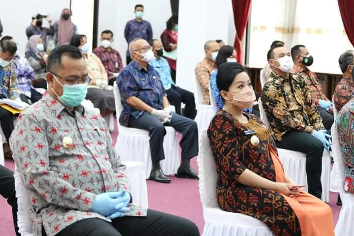 Bupati Landak Hadiri Rakorwasin Keuangan dan Pembangunan Kalbar 2021