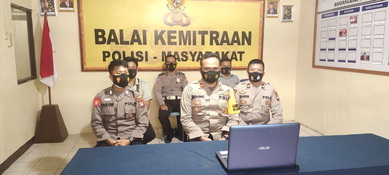 Polsek Mandor Ikuti Arahan Kapolri Terkait Sitkamtibmas dan COVID-19