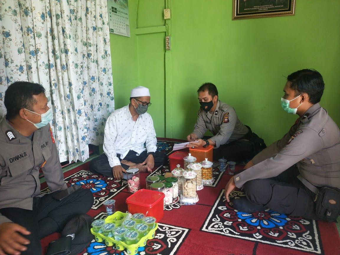 Binmas Polres Landak Kunjungi Ketua NU Kabupaten Landak