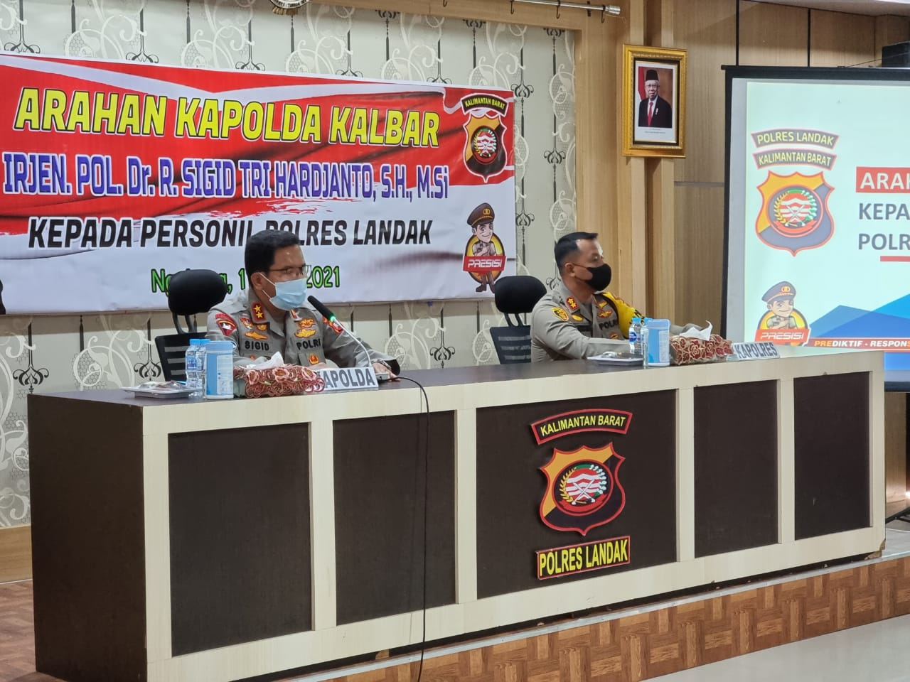 Kunjungi Polres Landak, Kapolda Kalbar Tinjau Perkembangan Kasus COVID-19