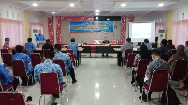Pembukaan Seminar Penyampaian SSH Tahun 2021 oleh Sekda Landak
