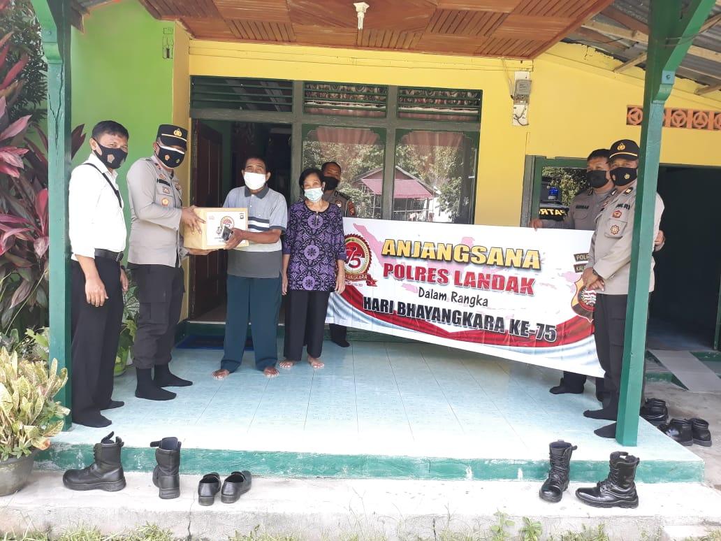 Polres Landak Ajangsana Dalam Rangka HUT Bhayangkara ke-75