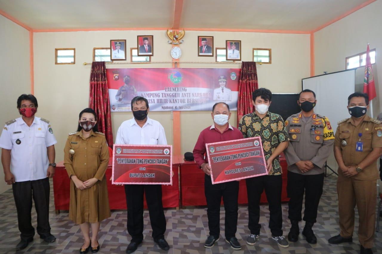 Resmi dilaunching, Desa Hilir Kantor Jadi Kampung Tangguh Anti Narkoba