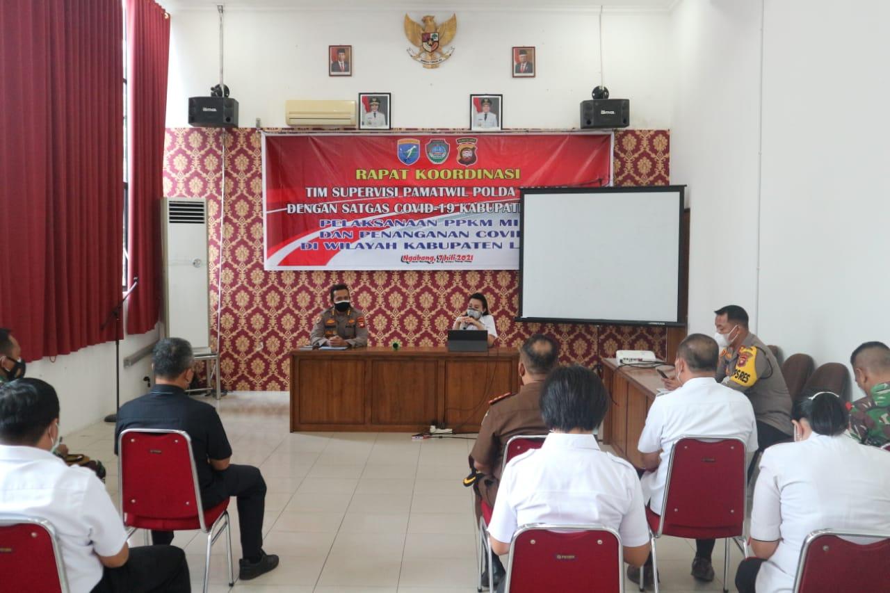 Bahas COVID-19, Pemkab Landak Gelar Rakor Bersama Tim Supervisi Pamatwil Polda Kalbar