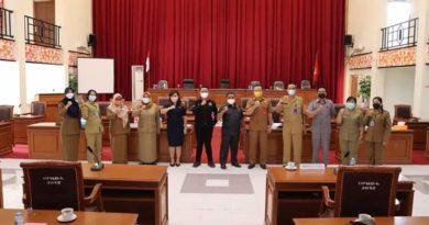 Rapat Bersama, DPRD Dengan Dinas SP3AKB Bahas Raperda Perubahan APBD Landak Tahun 2021