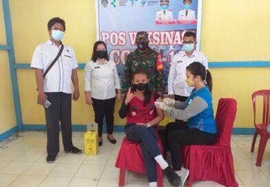 Ratusan Siswa SMPN 2 Mandor Laksanakan Vaksinasi